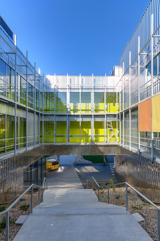 photographe d'architecture ©INTERVALphoto : PERIPHERIQUES Architectes, Biopôle, Rennes.