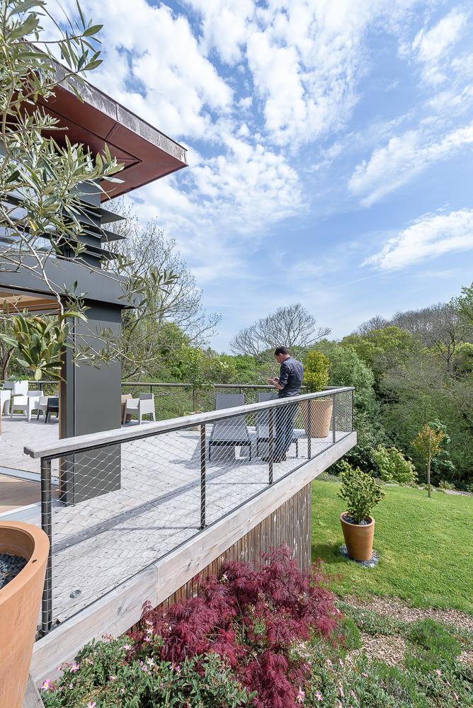 photographe d'architecture ©INTERVALphoto : GRIGNOU & STEPHAN architectes, maison dans la pente, Combrit (29)