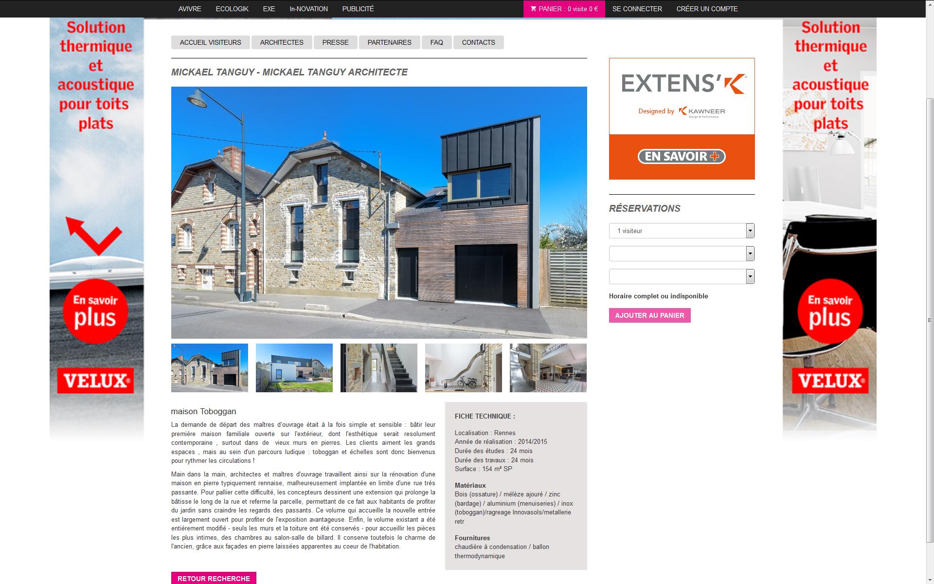 architecture maison a vivre mickael tanguy architecte. Black Bedroom Furniture Sets. Home Design Ideas