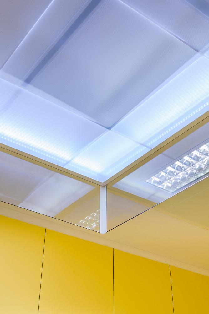 DENCOHAPPEL, plafond filtrants, polyclinique, Cesson Sévigné ©INTERVALphoto