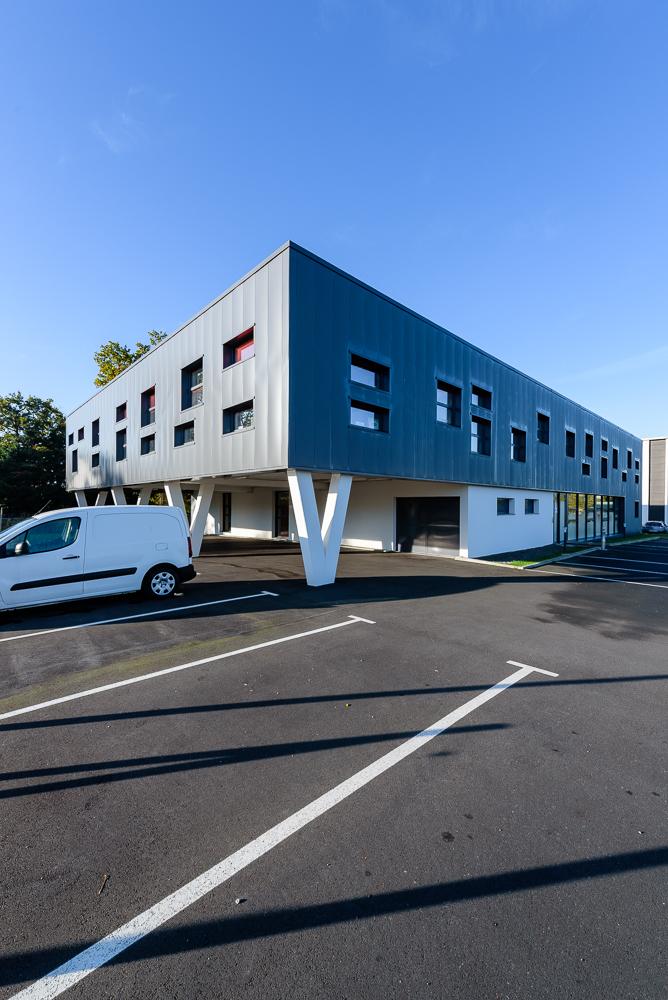photographe d'architecture ©INTERVALphoto : PEOC'H RUBIO architectes, Qualiconsult, La Fleuriaye, Carquefou (44)
