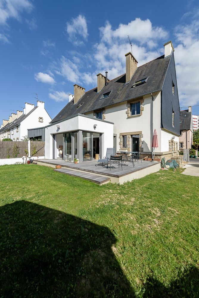 photographe d'architecture ©INTERVALphoto : Briand Renault architectes, extension, réhabilitation, maison individuelle, M, Rennes, 35