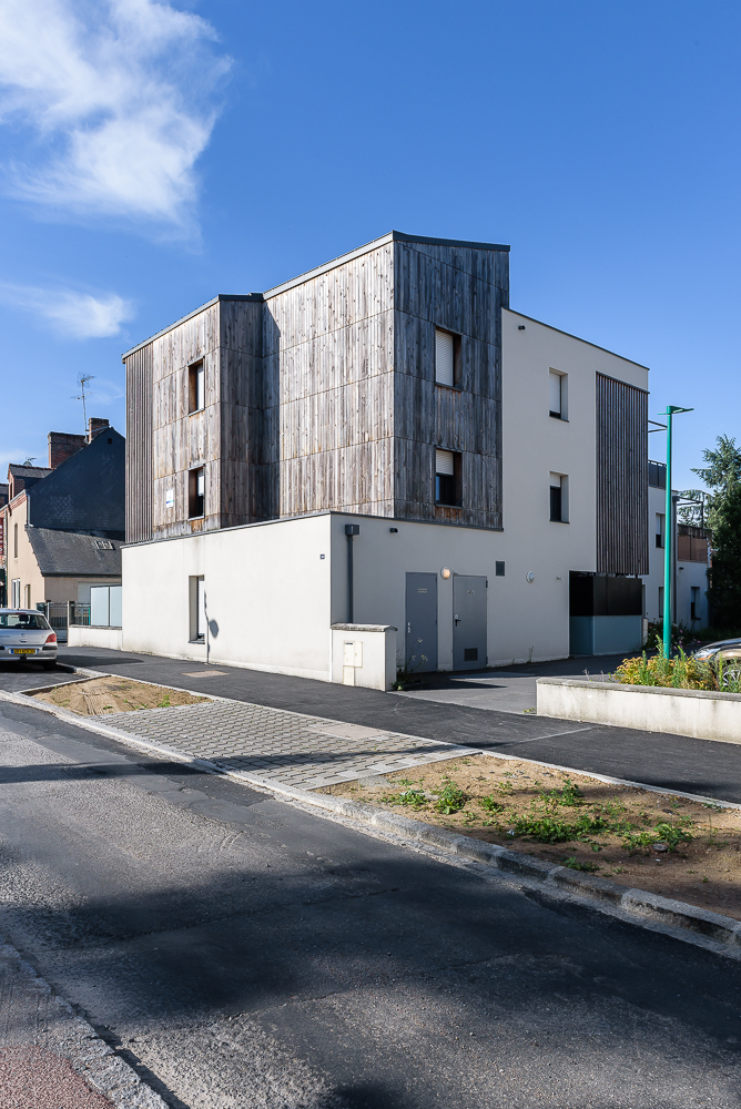 photographe d'architecture ©INTERVALphoto : Paul Bouet Architecte, logements collectifs, Pont Péan, 35