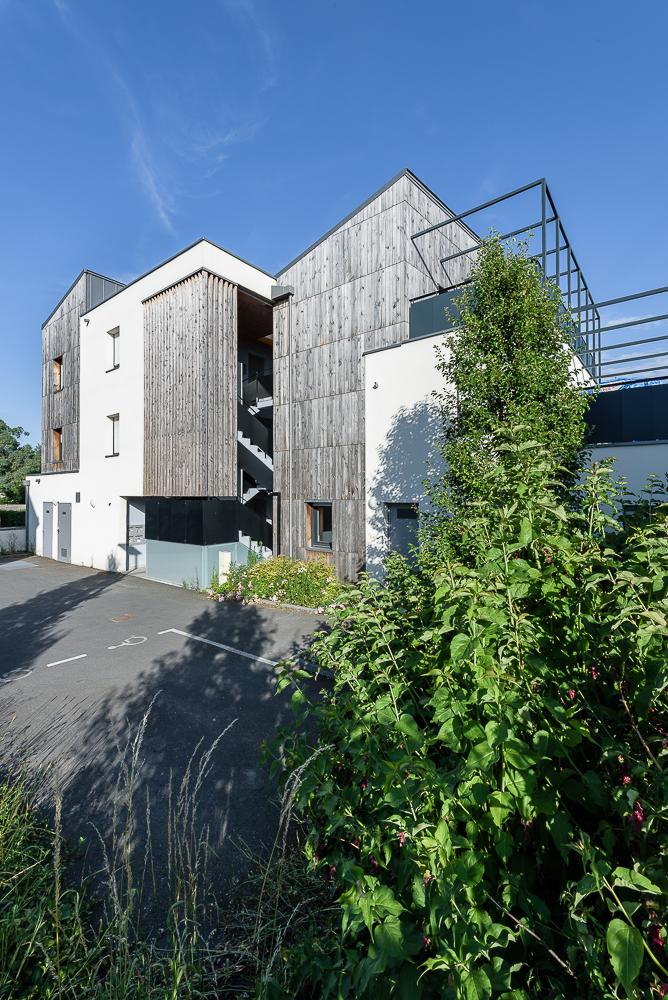 photographe d'architecture ©INTERVALphoto : Paul Bouet Architecte, logements collectifs, Pont Péan, 35