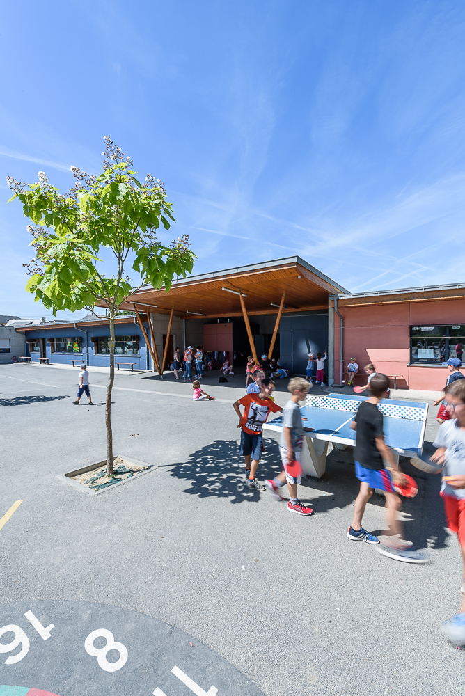 photographe d'architecture ©INTERVALphoto : Paul Bouet Architecte, école St joseph, St Méen le Grand, 35.