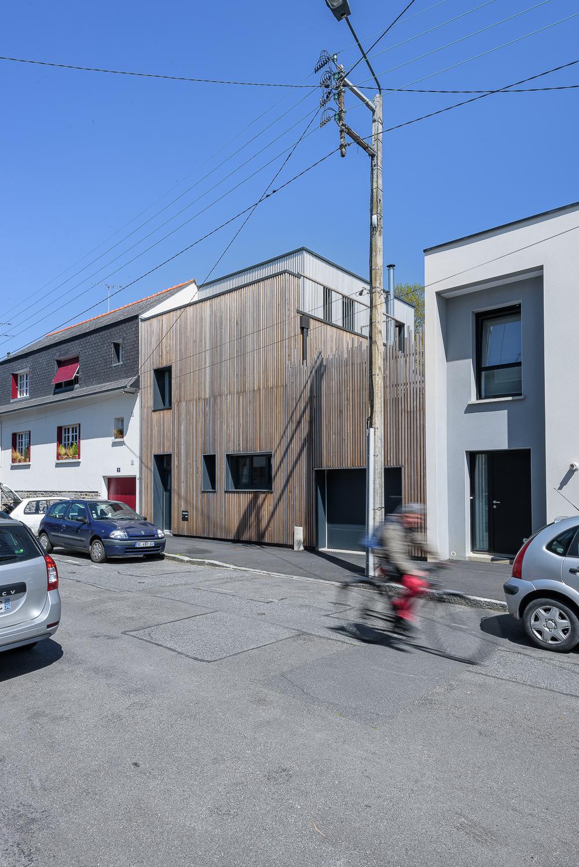 photographe d'architecture ©INTERVALphoto : Jean-Charles ROBERT, Maison JG, Rennes (35) : sélection Prix d'Architecture de Bretagne 2016.