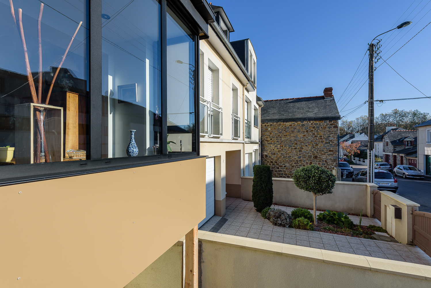 photographe d'architecture ©INTERVALphoto : Rocher Typhaine architecte maison individuelle, bow-window, Rennes(35)