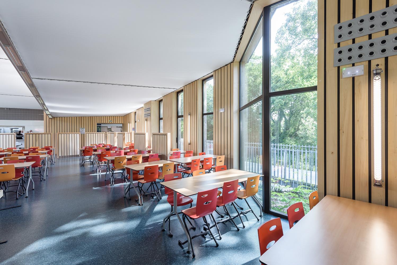 photographe d'architecture ©INTERVALphoto : Grignou et Stéphan Architectes, restaurant scolaire, Lycée Polyvalent Amiral Ronarc'h, Brest(29)