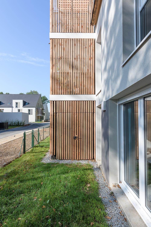 photographe d'architecture ©INTERVALphoto : PAUMIER Architectes Associés, logements collectifs, Chavagne (35)