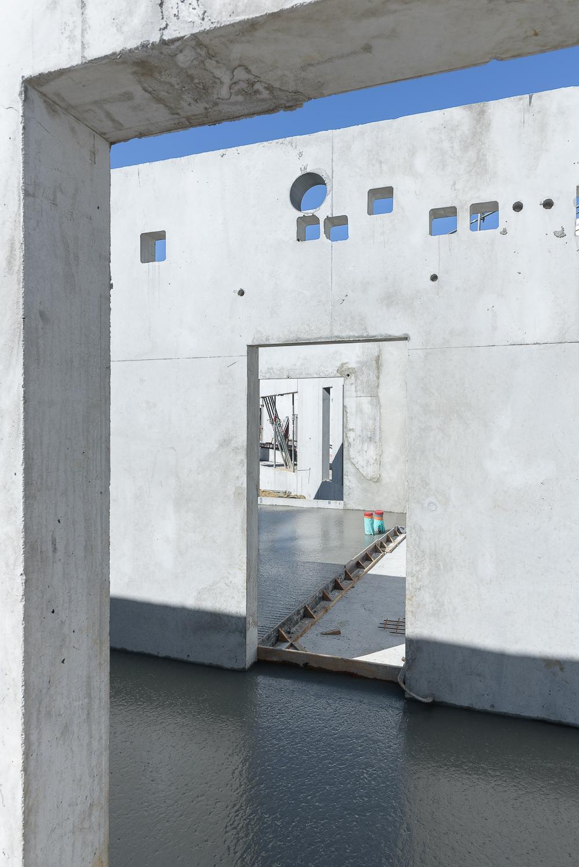 photographe d'architecture ©INTERVALphoto : Lycée Polyvalent, Région Pays de Loire, AIA architecte, Chantier, Nort sur Erdre (44) 5/22 ©INTERVAL photo