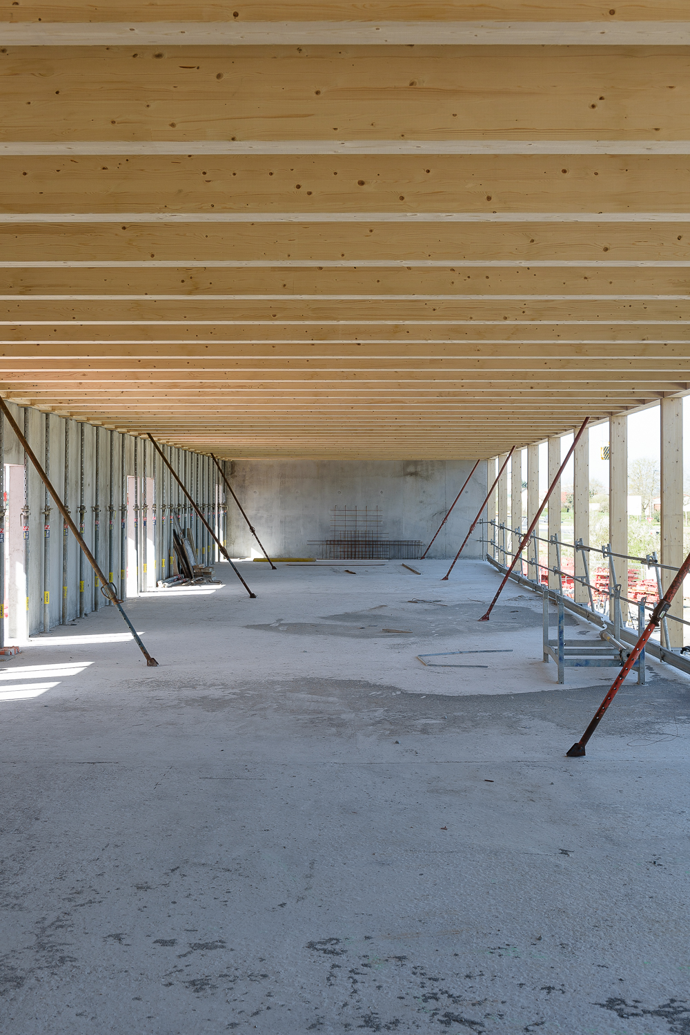 photographe d'architecture ©INTERVALphoto : Lycée Polyvalent, Région Pays de Loire, AIA architecte, Chantier, Nort sur Erdre (44) 5/22 ©INTERVAL photo