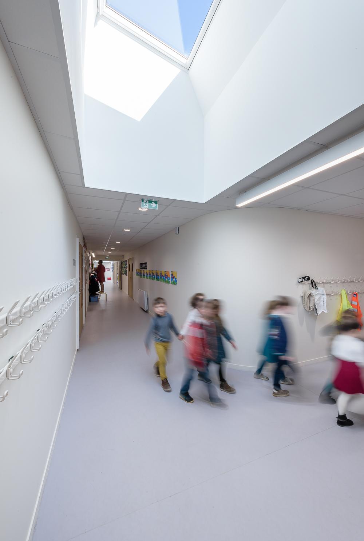 photographe d'architecture ©INTERVALphoto : STUDIO 02, école primaire, Melesse(35)