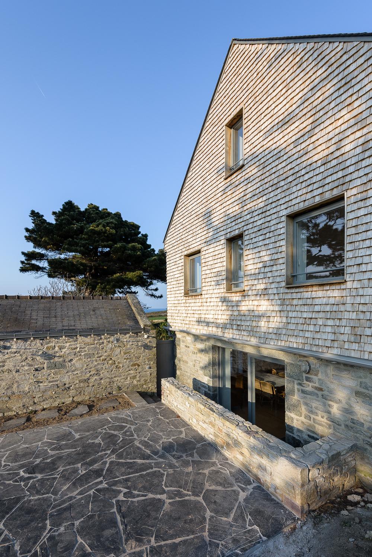 photographe d'architecture ©INTERVALphoto : Delacre et Seguin Architectes, réhabilitation maison individuelle, Saint Cast le Guildo(35)