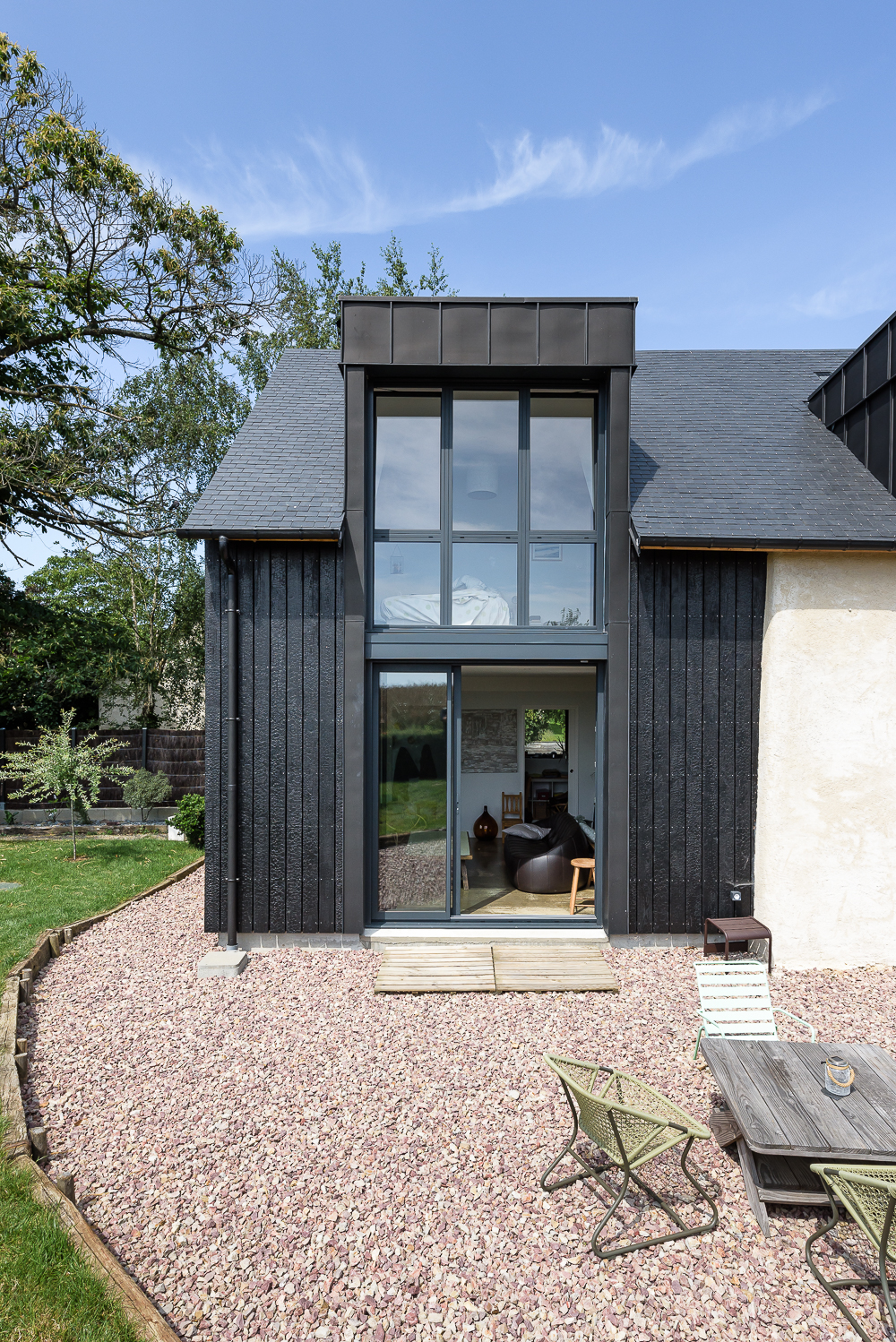 photographe d'architecture ©INTERVALphoto : Briand & Renault Architectes, extension, rénovation maison individuelle, Pacé (35)