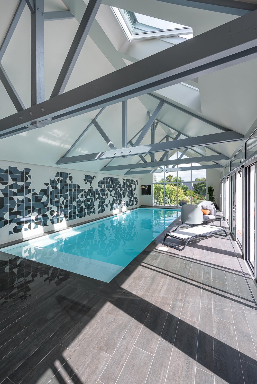 Couasnon Launay architectes, maison individuelle, extension,  piscine, région St Malo (35)