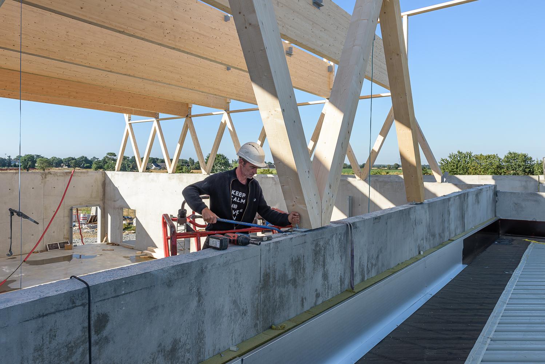 photographe d'architecture ©INTERVALphoto : Lycée Polyvalent, Région Pays de Loire, AIA architecte, Chantier, Nort sur Erdre (44) 10+11/22