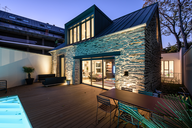 photographe d'architecture ©INTERVALphoto : Briand Renault Architectes, maison H, Rennes