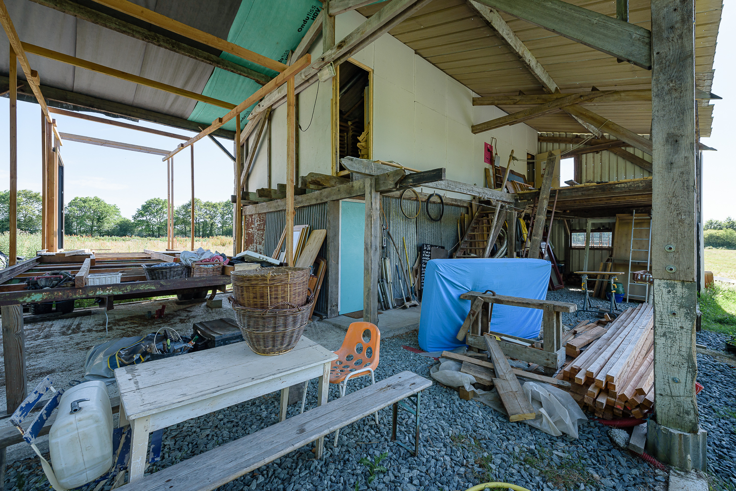 photographe d'architecture ©INTERVALphoto : ZAD NDDL, autoconstruction, inventaire n°5, Notre Dame des Landes(44) ©INTERVAL photo