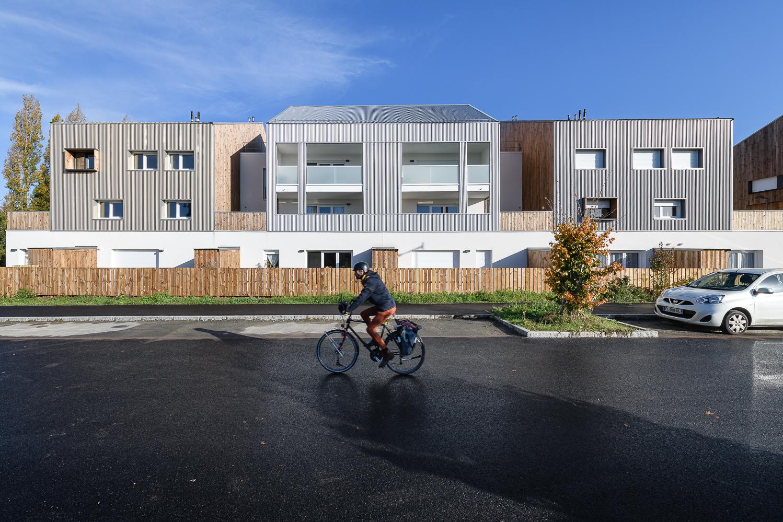 Paumier Architectes Associés, logements collectifs, Bocage citadin, ZAC Rives du Blosne, Chantepie (35)