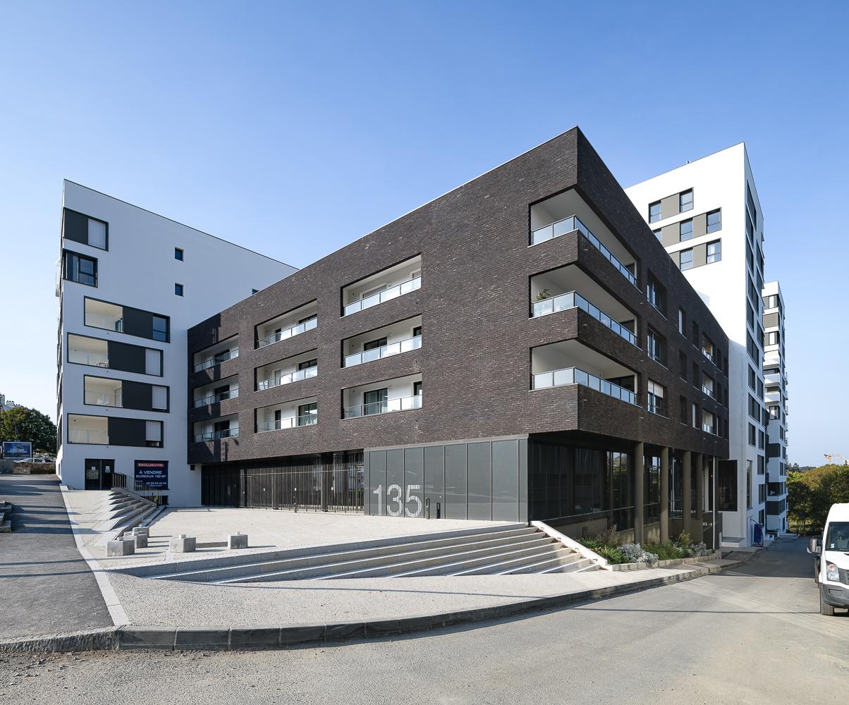 Paumier Architectes Associés, Antoine Massinon architecte, logements collectifs, Les Cadets, Rennes (35)