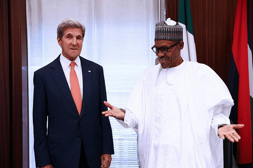 Kerry with Buhari in Nigeria
