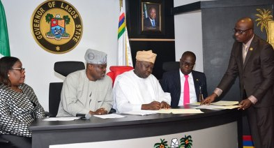Gov Ambode of Lagos in what many see as a proactive move with a Legislation against land grab in Lagos State
