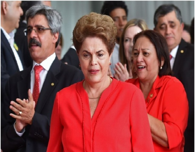Dilma Rousseff was stripped of Brazil's presidency in a Senate impeachment vote on Wednesday. (Evaristo Sa/AFP via Getty Images)