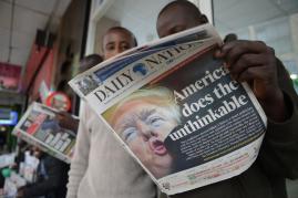 A Kenyan newspaper's representation of it all