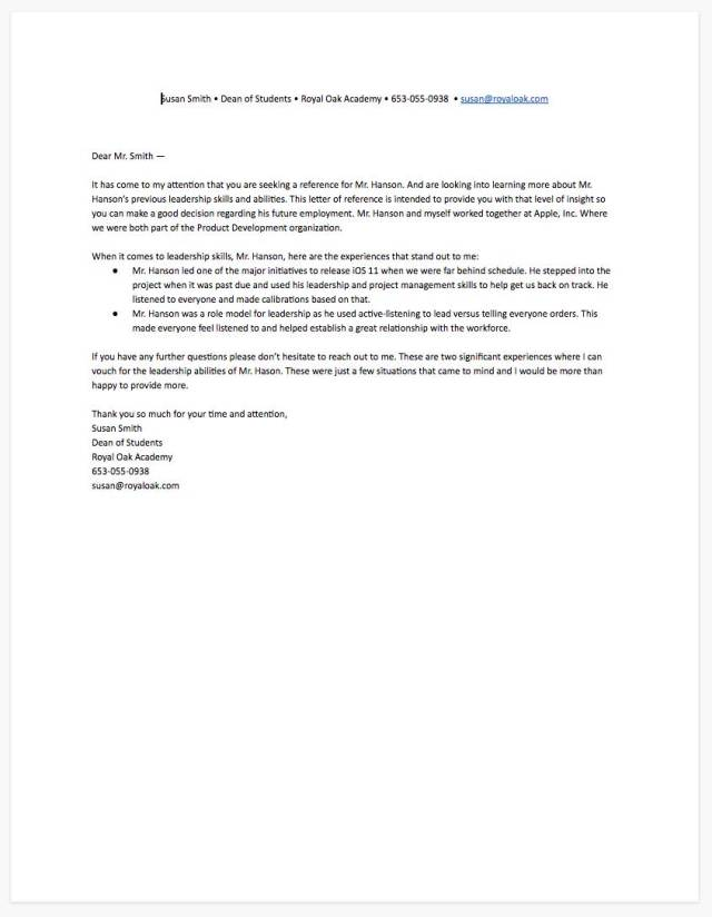 How to Write a Reference Letter for a Job [+ Free Template