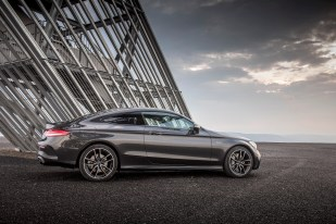 Mercedes-AMG C 43 4MATIC Coupé, graphitgrau metallic, Leder AMG schwarz, Kraftstoffverbrauch kombiniert: 9,5-9,2 l/100 km, CO2-Emissionen kombiniert: 217-212 g/km // Mercedes-AMG C 43 4MATIC Coupé. graphite grey metallic, AMG leather black, fuel consumption combined: 9.5-9.2 l/100 km
