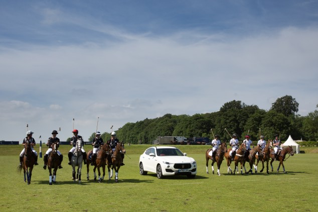Maserati Polo Tour 2018 - UK - Levante SUV leads the players on to the field