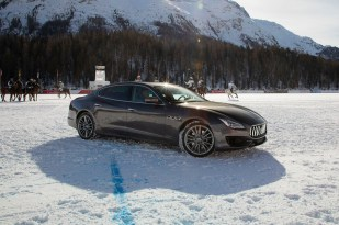 Maserati Quattroporte MY19 on the snow polo field - St. Moritz
