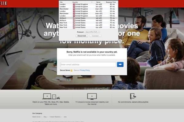 Unblock Netflix - VPN connected