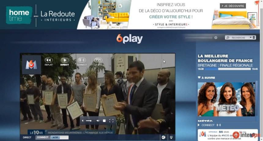direct M6 live stream à l'étranger, contourner geo blocage