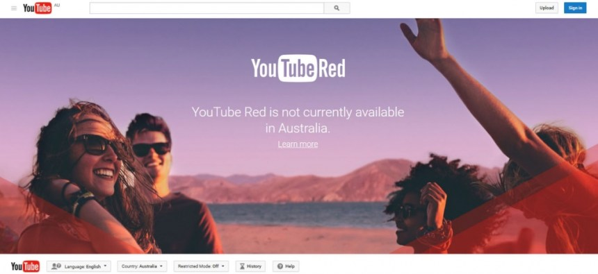 Youtube Red in Australia