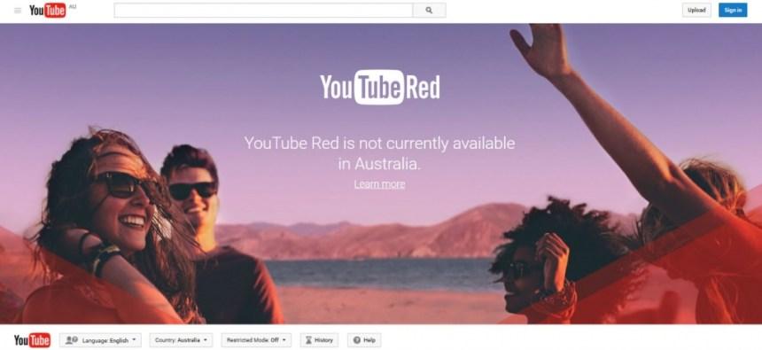 Youtube Red in Australia