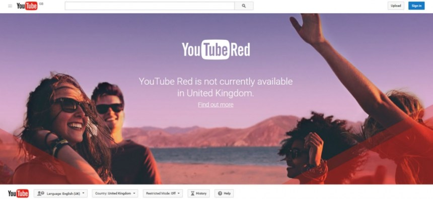 Youtube Red in United Kingdom - UK