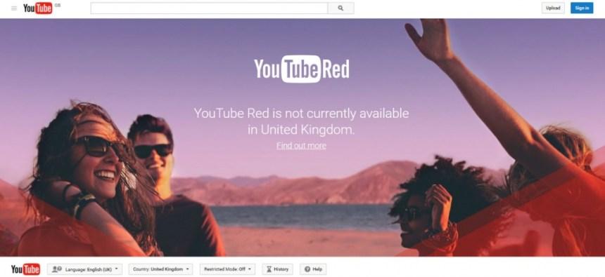 Youtube Red in United Kingdom - UK