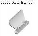 02005 - Rear bumper*1PC 1