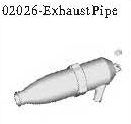 02026 - Exhaust pipe*1pc 1