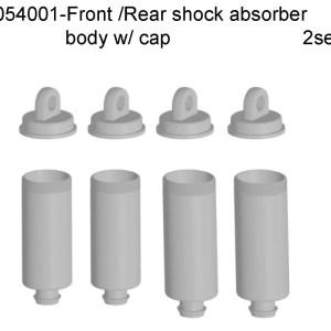 054001 - Front/Rear shock absorber body w. cap 4pcs 1