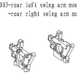 083003 - Rear left & right swing arm mount 1stk 3