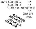 11271/104060/61 - BALL END A&B - LINKER OF REDRICTOR - 4stk 7