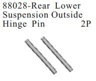 88028 - Rearlower Suspension Outside Hinge Pin 2P 1