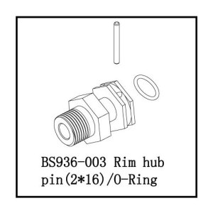 BS936-003 - 17mm Wheel Hub 1