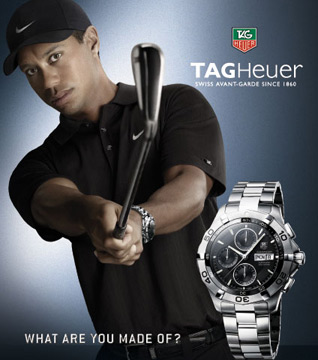 TAG Heuer Tiger Woods publicity