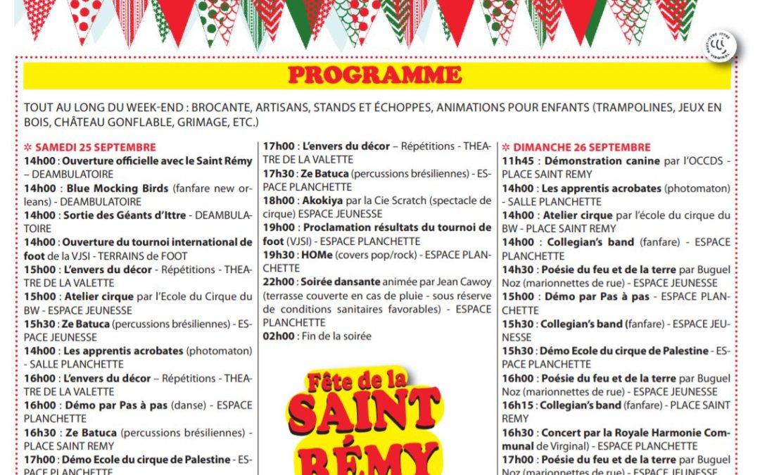 Fête de la Saint Rémy Ittre 2021