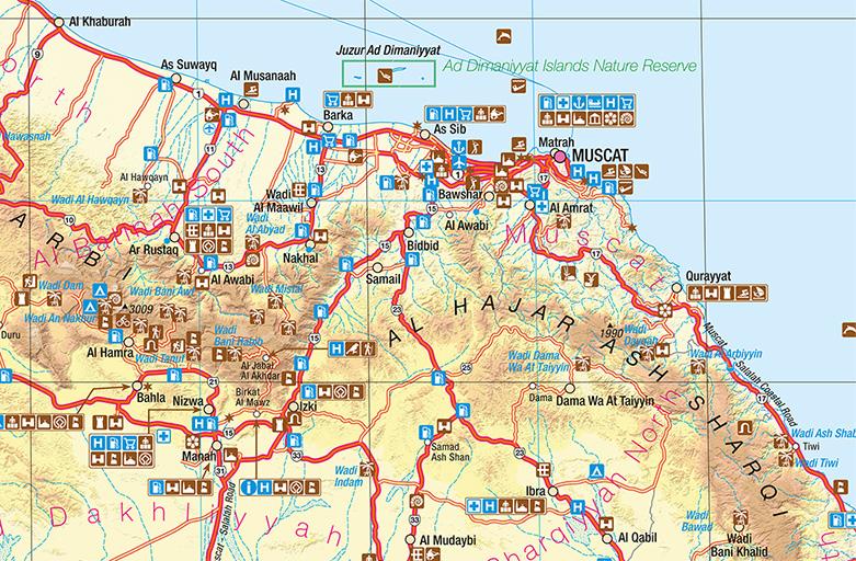 Neue touristische Landkarte für das Sultanat Oman erschienen