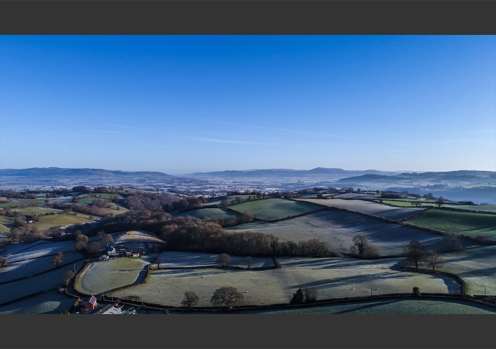 Aerial shot of Mid Wales