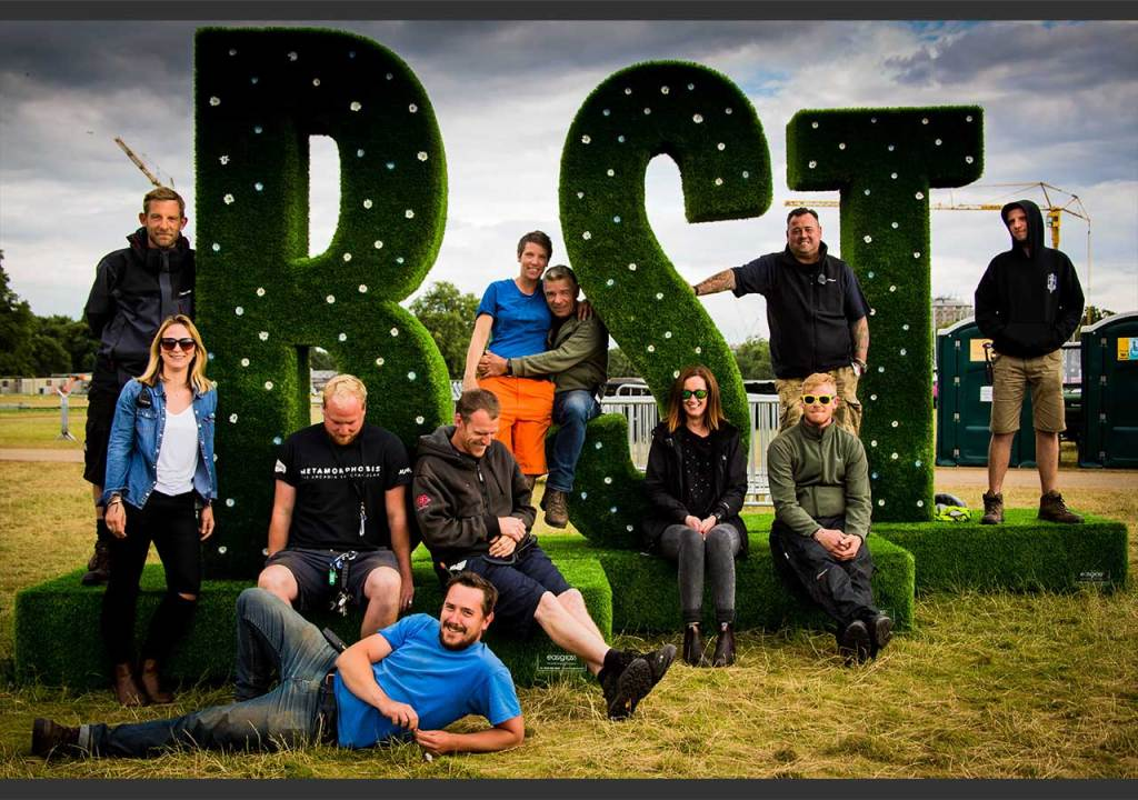 Site delivery team for BST 2016. Hyde Park, London